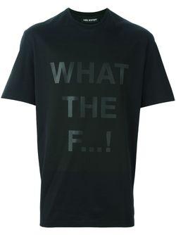 Футболка What The F Neil Barrett                                                                                                              черный цвет