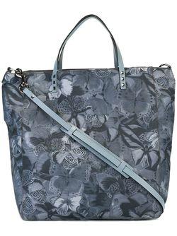 Camubutterfly Shopper Tote Valentino                                                                                                              синий цвет