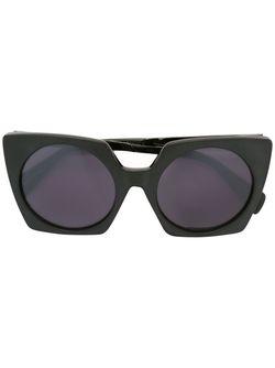 Солнцезащитные Очки В Объемной Оправе Yohji Yamamoto                                                                                                              чёрный цвет