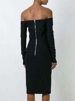 Платье С Декольте Newman Preen By Thornton Bregazzi                                                                                                              черный цвет
