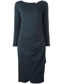 Драпированное Платье Armani Collezioni                                                                                                              синий цвет