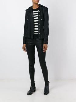 Куртка Со Смещенной Застежкой Chanel Vintage                                                                                                              чёрный цвет