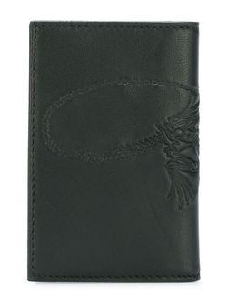 Бумажник С Принтом Скелета Ящерицы Alexander McQueen                                                                                                              черный цвет
