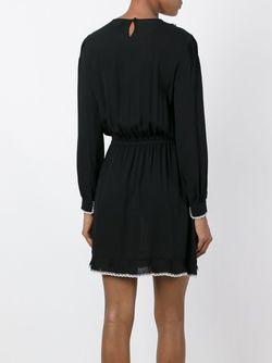 Платье С Контрастными Рюшами Red Valentino                                                                                                              черный цвет