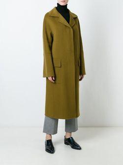 Длинное Пальто Odeeh                                                                                                              зелёный цвет