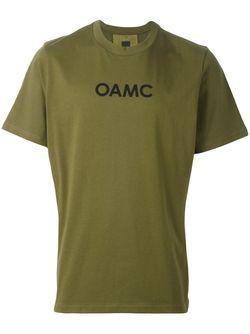 Футболка С Контрастной Полосой На Спине OAMC                                                                                                              зелёный цвет