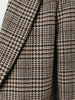 Пальто В Ломаную Клетку Barena                                                                                                              коричневый цвет