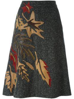 Юбка С Нашивками Dolce & Gabbana                                                                                                              серый цвет