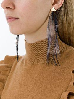 Серьги С Перьями Forte Forte                                                                                                              серебристый цвет