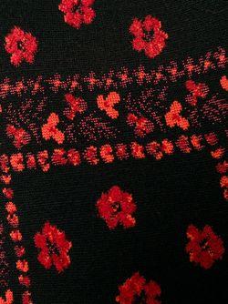 Вязаная Жаккардовая Накидка-Кейп Alexander McQueen                                                                                                              чёрный цвет