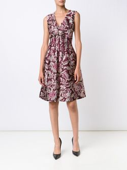 Pattern Flared Dress Oscar de la Renta                                                                                                              красный цвет