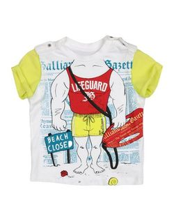 Футболка JOHN GALLIANO KIDS                                                                                                              белый цвет