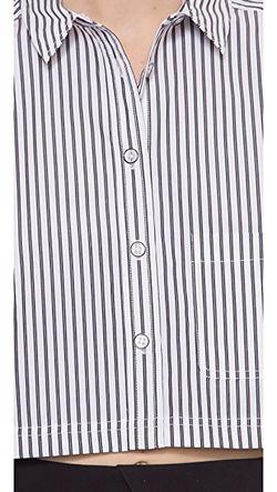 Укороченная Рубашка Venice В Полоску Marc by Marc Jacobs                                                                                                              None цвет