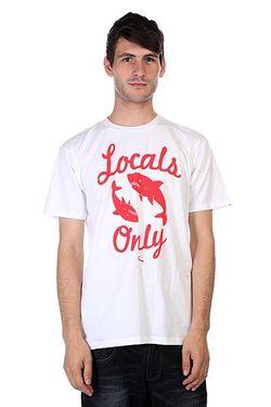 Футболка Locals Only White Lost                                                                                                              белый цвет