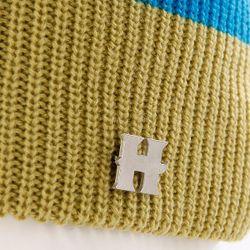 Шапка С Помпоном Женская Beatrice Beanies Blue/Green/Navy Harrison                                                                                                              синий цвет