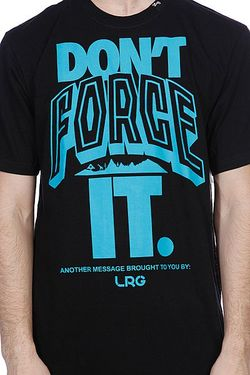 Футболка Dont Force It Tee Black LRG                                                                                                              None цвет