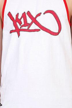 Майка Bootleg Tank Top White/Red K1X                                                                                                              белый цвет