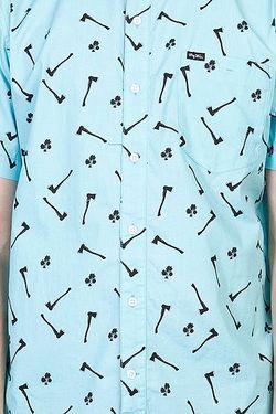 Рубашка Axman Ss Woven Cayman Blue LRG                                                                                                              None цвет