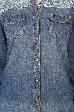 Рубашка Женская Sunday River Denim Roxy                                                                                                              синий цвет