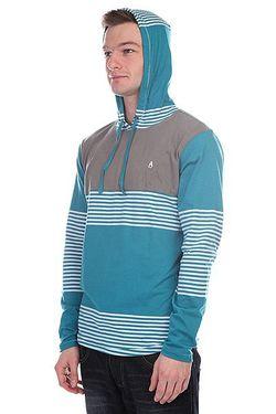 Лонгслив Heath Knit Hooded Pullover Blue Nixon                                                                                                              голубой цвет