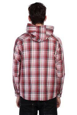 Рубашка В Клетку Motor Ls Hooded Woven Circa                                                                                                              красный цвет