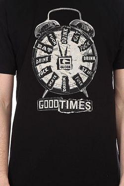 Футболка Good Times Tee Black Globe                                                                                                              None цвет