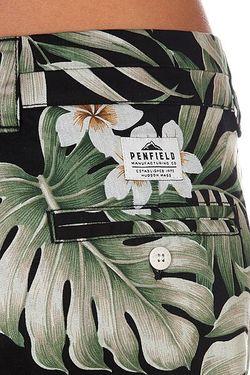 Шорты Женские Truro Short Black Palm Penfield                                                                                                              черный цвет