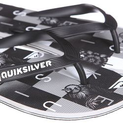 Шлепанцы Molokai Checkma Black/Grey/White Quiksilver                                                                                                              черный цвет