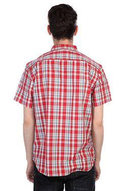 Рубашка В Клетку Helsby American Beau Quiksilver                                                                                                              синий цвет