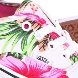 Кеды Кроссовки Женские Authentic Hawaiian Floral White Vans                                                                                                              розовый цвет