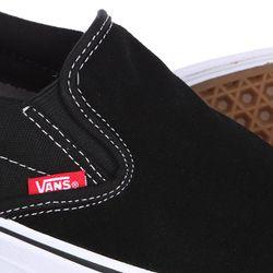 Слипоны Slip On Pro Black/White/Red Vans                                                                                                              чёрный цвет