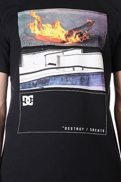 Футболка Dc Burning Black Dcshoes                                                                                                              чёрный цвет