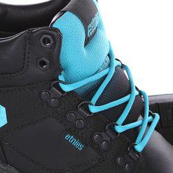 Кеды Кроссовки Высокие High Rise Black/Blue Etnies                                                                                                              голубой цвет