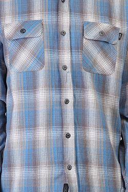 Рубашка В Клетку Chopper Flannel Blue Huf                                                                                                              голубой цвет
