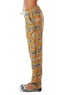 Штаны Широкие Женские Alana Ceylon Yellow Rutme                                                                                                              многоцветный цвет