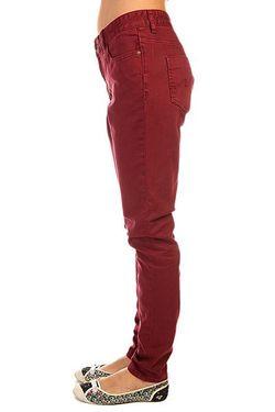 Джинсы Прямые Женские Peddler Black Cherry Billabong                                                                                                              красный цвет
