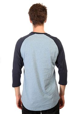 Лонгслив Dc Rebuilt Raglan Tees Heather Blue Dcshoes                                                                                                              синий цвет