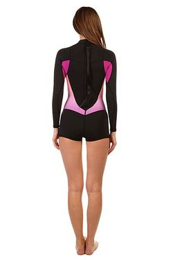Гидрокостюм Верх Женский Black/Violet/Coral Roxy                                                                                                              розовый цвет