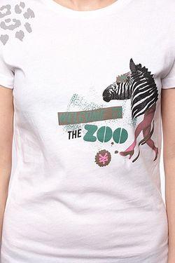 Футболка Женская Zebra Head Bright White Zoo York                                                                                                              белый цвет