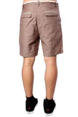 Классические Мужские Шорты Exiled Brown Slub Insight                                                                                                              коричневый цвет
