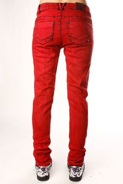 Джинсы Узкие Женские Skinny Stretch Ankle Biter Insight                                                                                                              красный цвет