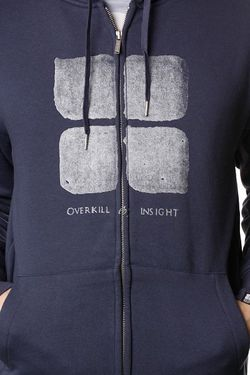 Толстовка Overkill Logo Hood Steal Blue Insight                                                                                                              синий цвет