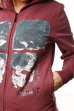 Толстовка Женская Paper Sky Zip Moroccan Insight                                                                                                              красный цвет