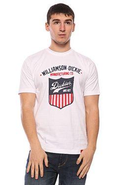 Футболка W.D. Manufacturing Co White Dickies                                                                                                              белый цвет
