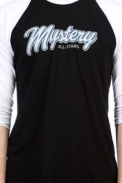 Лонгслив All Stars Raglan Black/White Mystery                                                                                                              чёрный цвет