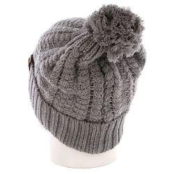 Шапка С Помпоном Женская Annabel Beanies Grey Harrison                                                                                                              серый цвет