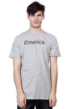 Футболка Pure 12 S/S Tee Grey/Heather Emerica                                                                                                              серый цвет
