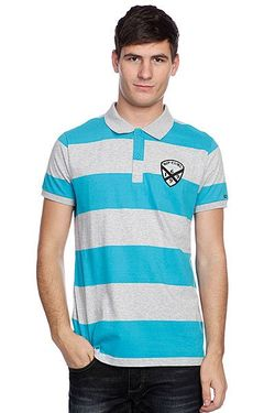 Поло Rugby Team S/S Polo Peacock Blue Rip Curl                                                                                                              голубой цвет