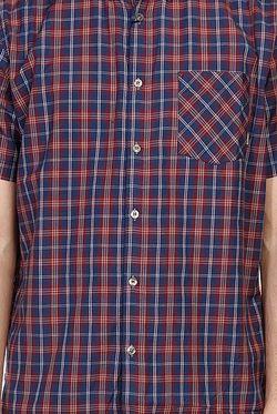 Рубашка В Клетку Sutton Ss Dark Denim Element                                                                                                              синий цвет