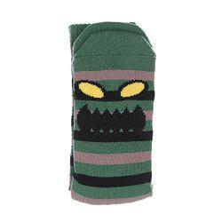 Носки Средние Monster Stripe Green/Brown Toy Machine                                                                                                              чёрный цвет